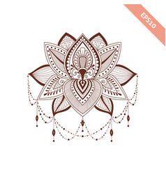 Decorative element henna style flower vector