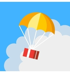 Delivery concept parachute icon Gift box flying vector