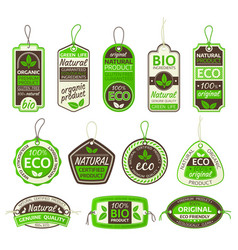 eco products bio food labels organic gluten free vector image