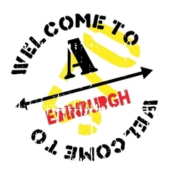 Edinburgh stamp rubber grunge vector