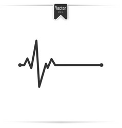 Electrocardiogram ecg - medical icon vector