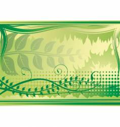 floral background green horizontal vector image