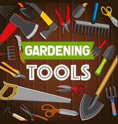 gardening tools shop agriculture and farming vector image