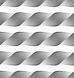 Gray ornament diagonal bulging shapes forming vector