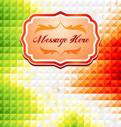 Green and red mosaic background vector