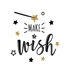 Greeting card with make a wish vector