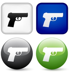 gun buttons vector image