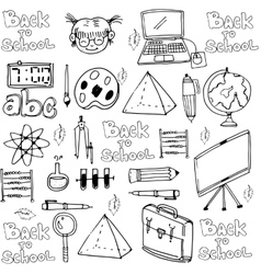Hand draw school object in doodle vector