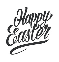 happy easter typographic lettering template vector image