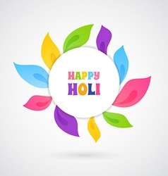Happy holi card template vector