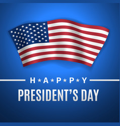 Happy presidents day greeting card vector