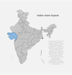 India country map gujarat state template concept vector