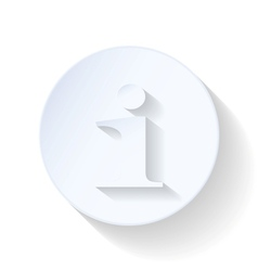Information flat icon vector