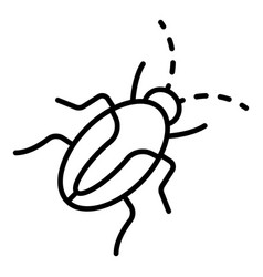Insect cockroach icon outline style vector