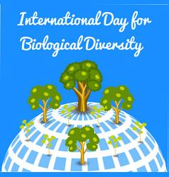 International day for biological diversity vector