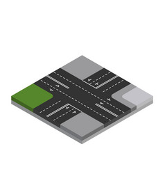 Isometric city roads vector