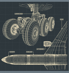 jet airliner drawings vector image