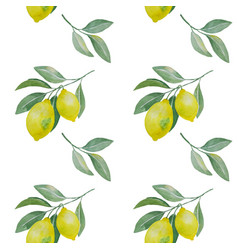 lemon branch seamless pattern vector image