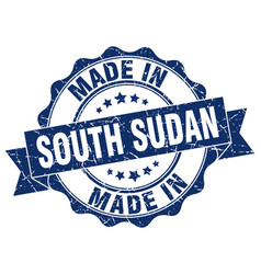made in south sudan round seal vector image