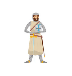 Medieval knight warrior character vector