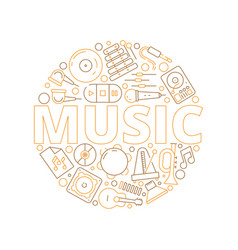 music items background musicians instruments for vector image