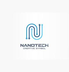 Nanotechnology creative symbol concept futuristic vector