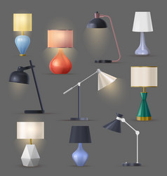 night lamps table desk light with stand vector image