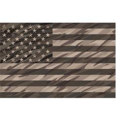 Patriotic desert tan camo usa flag vector