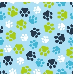 pattern seamless of background animal blue vector image vector image