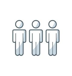 people teamwork flat icon vector image