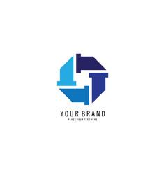 plumbing service symbol logo vector image