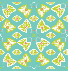 pretty stylized floral pattern seamless repeating vector image