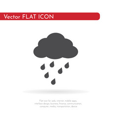 Rain icon for web business finance and vector