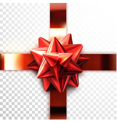 red bow realistic vector image