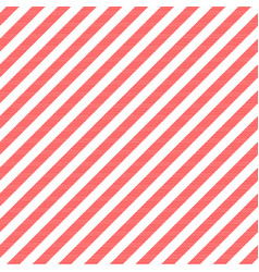 red white striped fabric texture seamless pattern vector image
