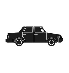 Sedan car vehicle transport image pictogram vector