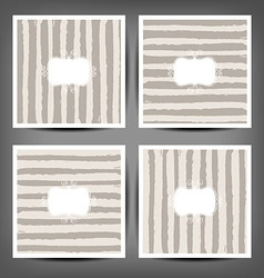Set Hand drawn striped seamless pattern vector