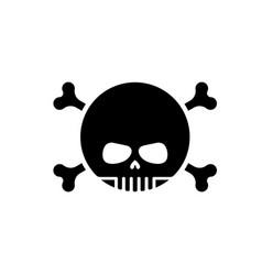 skull with bones emoji head skeleton icon vector image