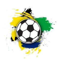 soccer ball on the background of multi vector image
