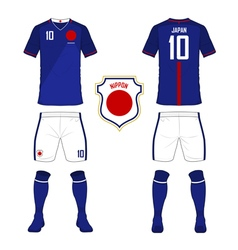 Soccer kit football jersey template for Japan vector