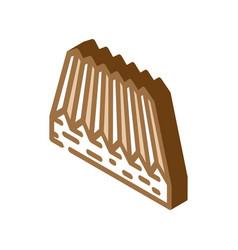 Tactile flooring isometric icon vector