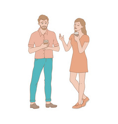 talking people - couple of vector image