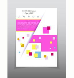 Template design layout brochure geometric vector