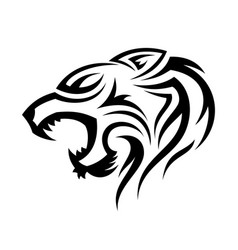 Tribal head tiger vector