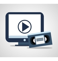 Vhs tv film and movie design vector