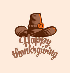 Vintage hat for thanksgiving vector