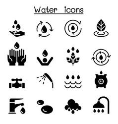 Water icon set graphic design vector