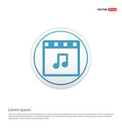 web film icon - white circle button vector image