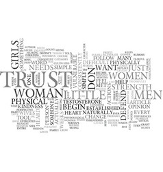 What men want from women text word cloud concept vector
