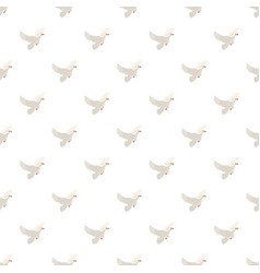 White pigeon pattern vector